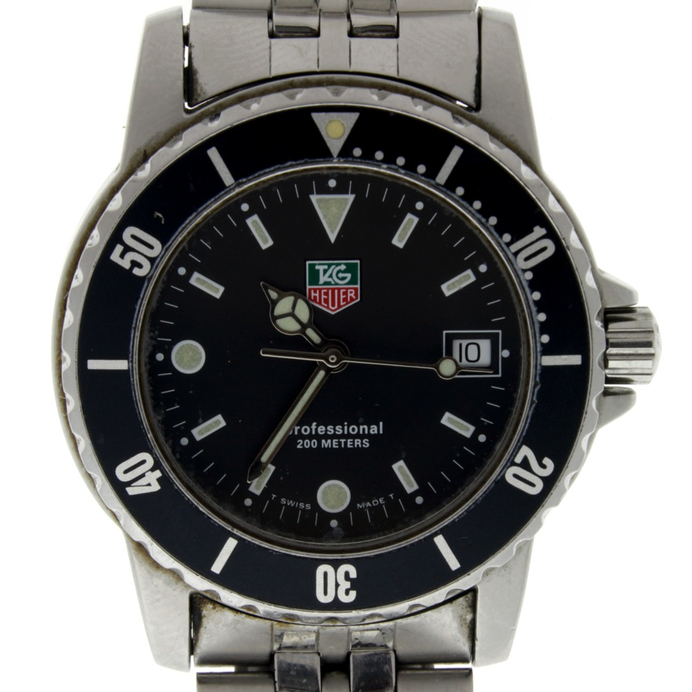 Vintage tag heuer professional wd1210 do professional 200 meter dive watch ebay for Tag heuer divers watch